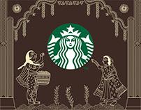 Starbucks Bangalore Wall Mural