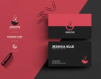 Free Creative Flat Business Card Design Template