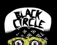 Black circle skate BOARD