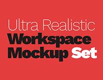 Ultra Realistic Workspace Mockup Set - 2 (18 PSD)