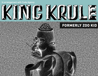 King Krule - UK / USA Flyer designs
