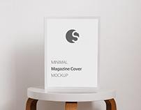 Free Minimal Magazine Cover Mockup PSD