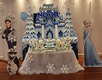 Frozen Birthday Decoration with STYRO