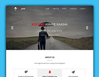 KOI JASS One Page PSD Template