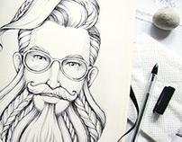 Graphic portraits (sketchbook)