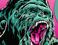 A roaring gorilla is what illustrators' dreams are made