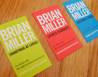 Brian Miller Construction Business Cards