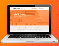 Corporate website - biomedical company