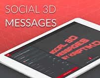 Social 3D Messages on Facebook, Twitter & Google+