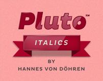 Pluto Italics (Typefamily)