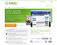 Ning Homepage Redesign
