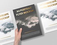 A4 Portait Flyer / Letterhead Mockup - Foil Stamping Ed