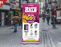 Season Sale Roll Up Standee Banner PSD