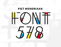 De Stijl typography - Piet Mondrian
