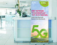 Standee Design | Successfully Test 5G | ZONG 4G