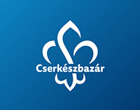 Cserkészbazár scout merchandise shop's visual identity