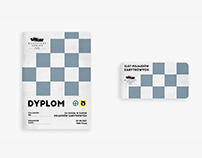 Diploma & sticker design - Retro Car Race