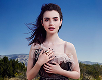 Lily Collins for Glamour Magazine by Rachell Smith