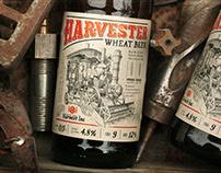 Harvester Weat Beer. Label Design.