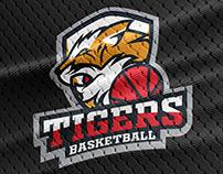 Tiger Basketball - Mascot Sport Logo