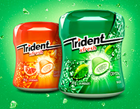 Trident Xfresh 3D packs, crystals and gum