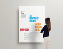Typographic Posters for Traveling Exhibition on Islam