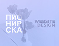 Pionirska website design