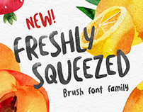 Freshly Squeezed Brush Font