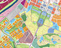 Planning of Eur area (Roma)