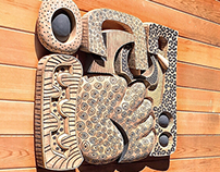 Ceramic Wall Sculpture by Eric Pilhofer