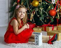 Positive emotions. Christmas mood. My daughter Agatha.