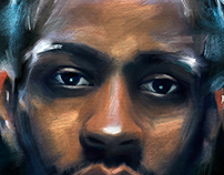"""Digital Painting- Allen Iverson """"The Answer"""""""