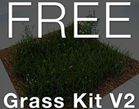 Grass Kit V2 for CInema 4D and Vray