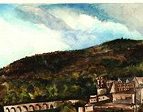 Heidelberg Castle - Watercolour