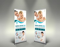 Pediatrician Signage Banner Roll Up Template