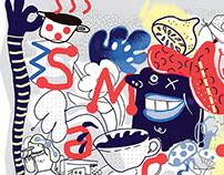 Prostota w kuchni/ Ilustracje dla Magazynu Slow