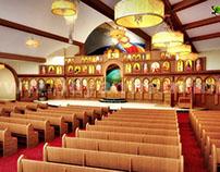 3D Church Auditorium Design View