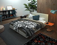 Bedroom 3D Interior Rendering Berlin Germany