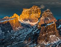 Dolomites. Fire