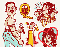 Freddie Mercury Print + Sticker Pack