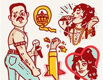Freddie Mercury Print + Sticker Pack