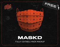 Free MASKD Mask Mockup