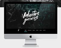 Valientes Guerreros · Website Design