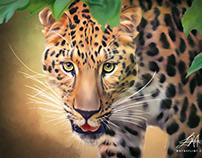 """""""Digital JAG"""" Oil Style Painting by Wayne Flint"""
