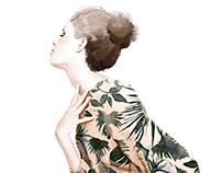 fashion illustration-personal work-jungle