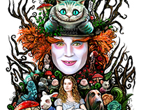 We Are All Mad Here Alice Painting