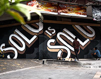 SOLO IS SOLO - Typography Mural