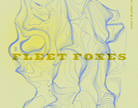 Fleet Foxes gig poster