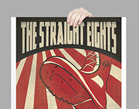 The Straight Eights Gig Poster