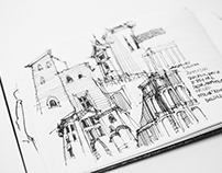 Rome Architecture Sketchbook